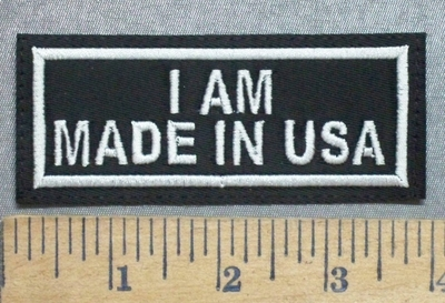 5591  l- I Am Made In USA - Embroidery Patch