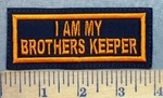 5621 L - I Am My Brothers Keeper - Orange - Embroidery Patch