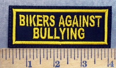 5623 L - Bikers Against Bullying - Yellow - Embroidery Patch