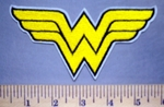 5641 C - Wonder Woman Logo - Gold - Embroidery Patch