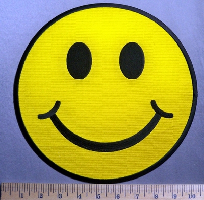 5649 CP - Smiley Face - Back Patch - Embroidery Patch