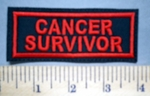 5654 L - Cancer Survivor - Red - Embroidery Patch