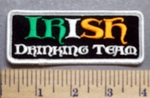 5674 G - IRISH Drinking Team - Embroidery Patch