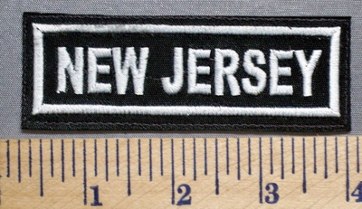 5678 L - New Jersey - Embroidery Patch