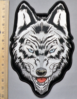 5681 CP - Blue Eyed Wolf - Back Patch - Embroidery Patch