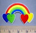5685 C - Rainbow With Hearts - Embroidery Patch