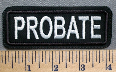 5687 L - Probate - Embroidery Patch