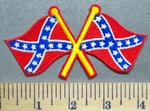 5689 N - Two Confederate Flags - Embroidery Patch