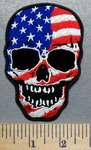 5690 G - Patriotic Flag Skull - Embroidery Patch