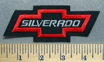 5696 L - Sliverado - Chevy Bow Tie - Red - Embroidery Patch