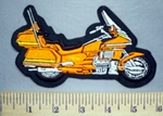 5702 L - Orange Gold Wing 1300 Motorcycle - Embroidery Patch