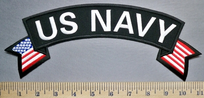 5705 CP - US Navy - Top Rocker - American Flag - Embroidery Patch