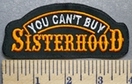 5707 L - You Can't Buy Sisterhood - Orange - Embroidery Patch