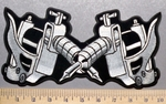5709 CP - Tattoo Guns - Back Patch - Embroidery Patch