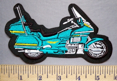 5711 L - Turquoise Gold Wing 1300 Motorcycle - Embroidery Patch