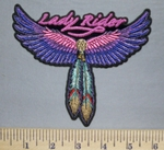 5716 CP - Lady Rider - Angel Wings With Feathers - Embroidery Patch