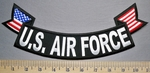 5718 CP - U.S. Air Force - American Flag - Bottom Rocker - Embroidery Patch