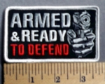 5720 G - Armed & Ready To Defend - Embroidery Patch