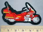 5726 L - Red Gold Wing 1300 Motorcycle - Embroidery Patch