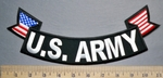 5729 CP - U.S. Army - Bottom Rocker - American Flag - Embroidery Patch
