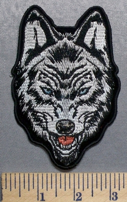 5731 CP - Blued Eyed Wolf - Embroidery Patch