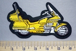 5734 L - Yellow Gold Wing 1300 Motorcycle - Embroidery Patch