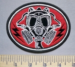 5735 N - Soldier In Gas Mask - Oval - Embroidery Patch