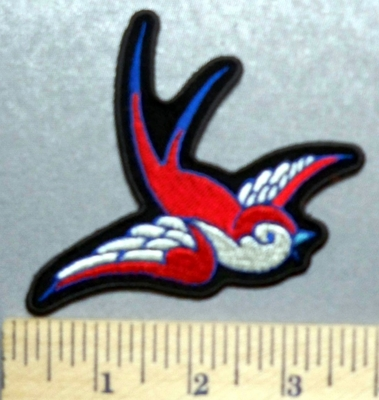 5736 G - Red Bird - Embroidery Patch
