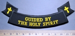 5737 S - Guided by The Holy Spirit - Bottom Rocker - Two Crosses - Embroidery Patch