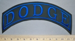 5744 L - Dodge - Top Rocker - Blue - Embroidery Patch