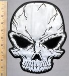 5748 CP - Black Eyed Skull - REFLECTIVE - Back Patch - Embroidery Patch
