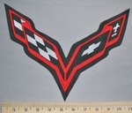 5761 L - Corvette Logo - Back Patch - Embroidery Patch