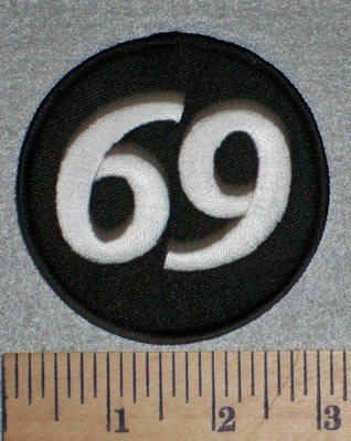 "2695 N - ""69"" - Round Patch - Embroidery Patch"