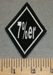 7% er Diamond Shape- Embroidery Patch