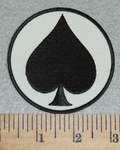 3058 G - Ace Of Spades - Embroidery Patch