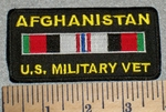 2610 W -  Afghanistan U.S. Military Vet. With Rank Stripe - Embroidery Patch