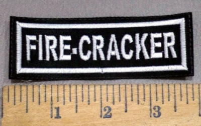 1482 L - Fire - Cracker  - Embroidery Patch
