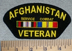 2617 W - Afghanistan Veteran Service Combat With Rank Stripe - Embroidery Patch