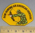 2094 S -Bow Hunting - An American Heritage - Embroidery Patch