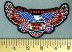 1838 N - All American Biker Girl American Flag Within Eagle  - Embroidery Patch