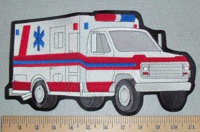 3148 L - Ambulance - Back Patch - Embropidery Patch