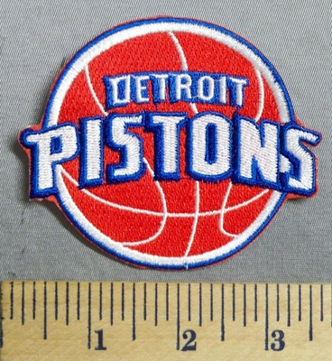2918 C - Detroit Pistons Basketball Logo - Embroidery Patch