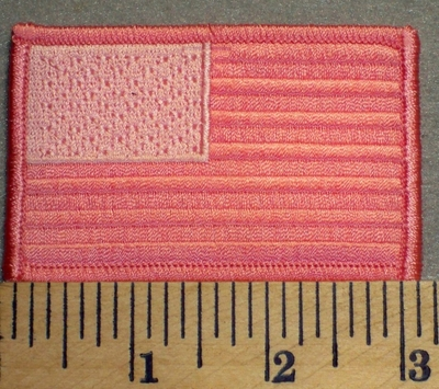 2481 G - American Flag - Pink - Embroidery Patch