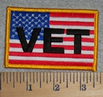 2789 W- American Flag - Vet - Embroidery Patch
