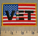 2378 W - American Flag With VET -Gulf War - Embroidery Patch