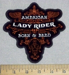 3556 G - American Lady Rider - Born & Bred- Embroidery Patch