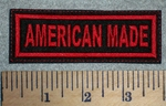 2669 L - American Made - Red - Embroidery Patch