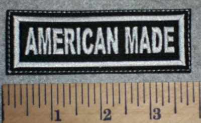 2670 L - American Made - White - Embroidery Patch