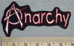 2586 L - Anarchy -Red Border - Embroidery Patch