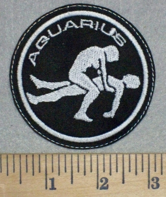 3440 L - Aquarius - Zodiac Sign - Sexual Position - Embroidery Patch